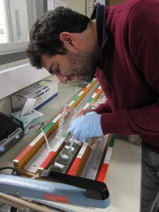 Fotis sampling sediments.